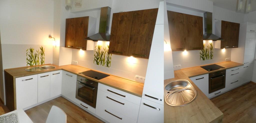 kuchnia bialo drewniana
